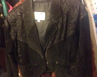 Vintage Leather suede Moto Jacket