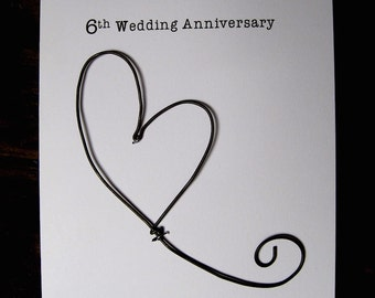 Wedding anniversary gifts for 6th year wedding
