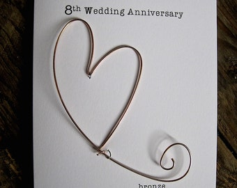 8th Wedding Anniversary Gifts For Her 75 Bronze 8th Anniversary Gift ...