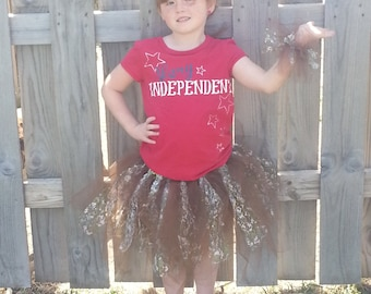 Camo Lace Tutu with matching Wristlet ~ Costume~Hunter Girl~Princess~Different sizes