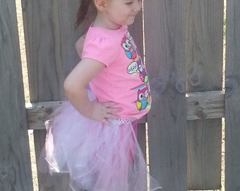 White/Pink Tutu ~Back Only Style~Costume~Princess~Different sizes