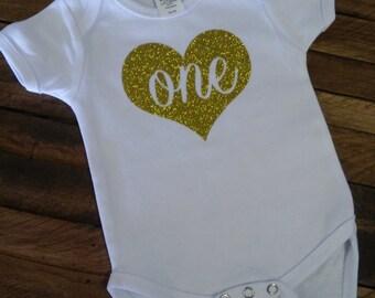 One Heart Onesie