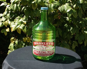 Vintage Green 1/2 Gal. Sparkletts Drinking Water Bottle