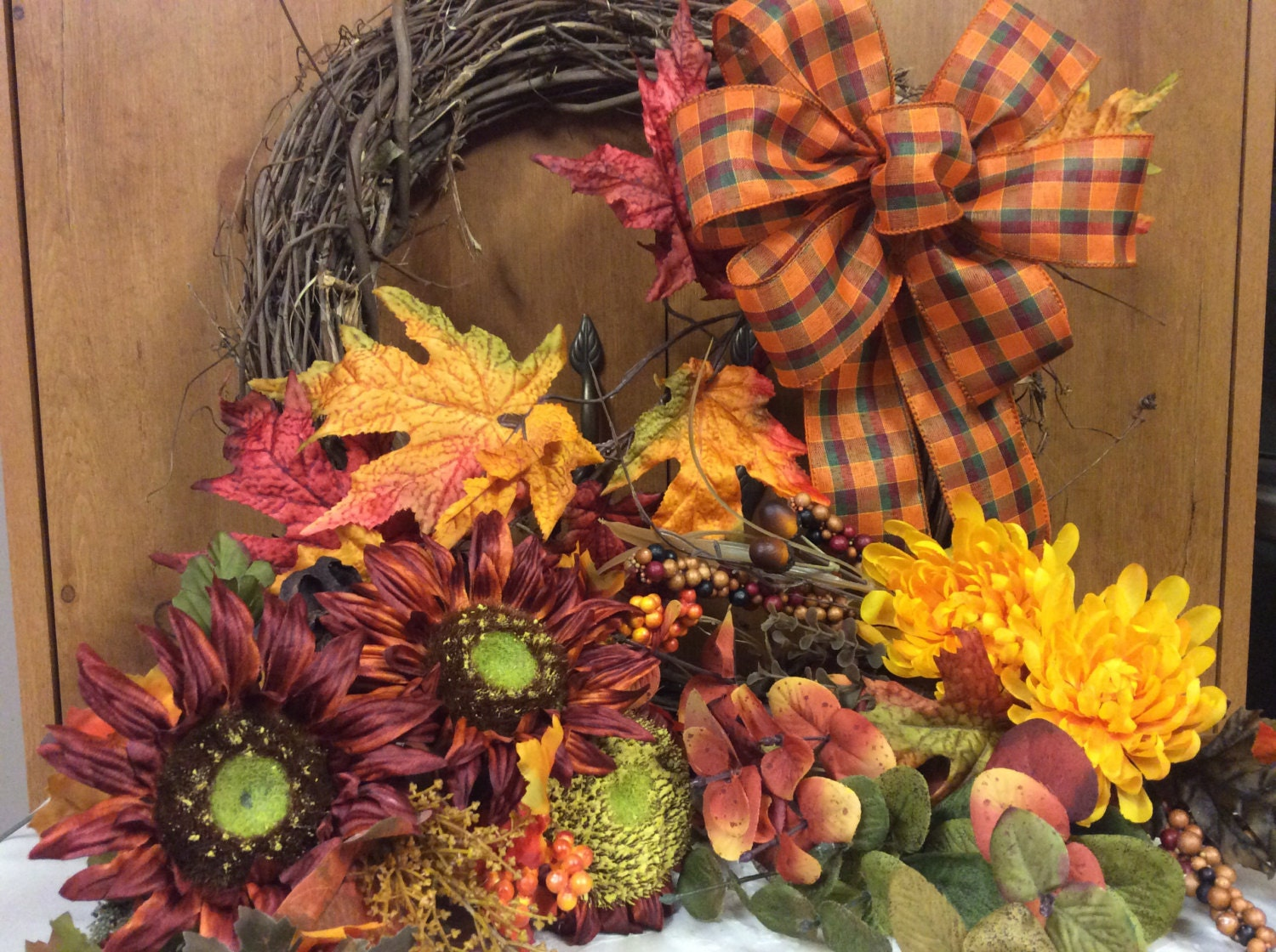 On Sale Diy Fall Floral Wreath Kit Autumn Front By