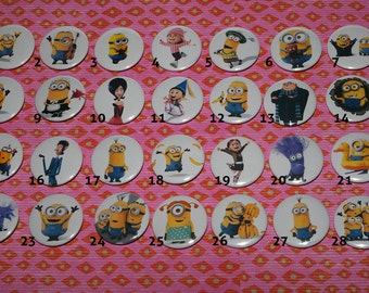 Minions pin buttons - 37 mm/1,46""