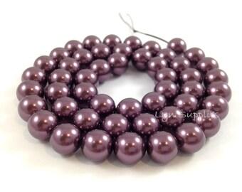 5810 BURGUNDY 4mm Swarovski Crystal Pearls 50pcs or 100pcs Small Round Pearls