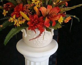 Fall silk centerpiece