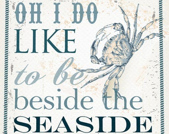 Oh I do like... seaside greetings card - free delivery.