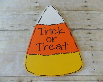 Candy Corn Door Hanger, Trick or Treat