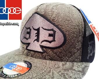 "Snapback Hat ""Black Tie Affair"" Velvet D13 by dopelids Hip Hop DJ Flat Bill"