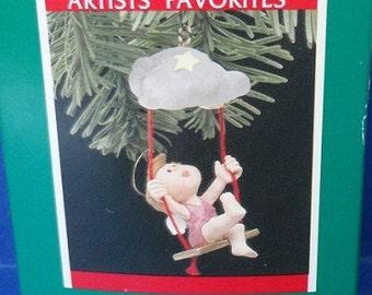 1989 Playful Angel Hallmark Retired Ornament