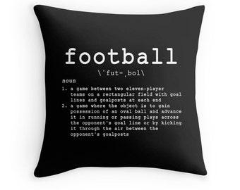 Football Quotes, Sports Pillows, Football Pillows, Sports Quotes, Football Decor, Sports Theme, Football Theme, Boys Room Decor, Football