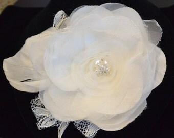 Organza Hair Flower, Wedding Hair Flower