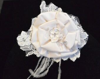 Silk Taffeta and lace Flower