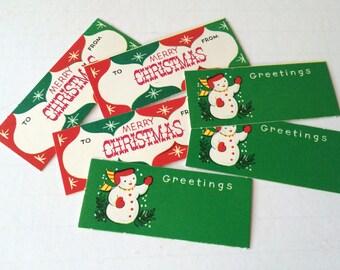 Vintage Christmas Gift Tags Holiday Gift Tags Set of 30
