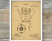 Percolator Coffee Pot Patent, Percolator Coffee Pot Poster, Coffee Pot Print, Coffee Pot Art, Coffee Pot Blueprint, Coffee Decor P212