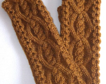 Hand knitted fingerless gloves.Winter accessory.Knitted fingerless mittens. Handwarmers.