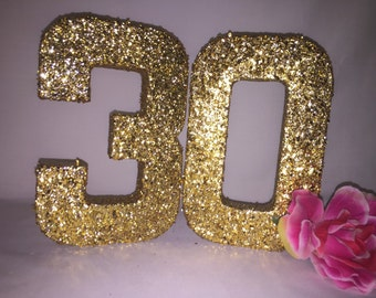 glitter number 3glitter number 0birthday party decor30th