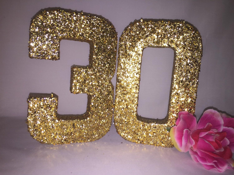 Glitter Numbers Glitter Number 3 Glitter Number 0 Birthday