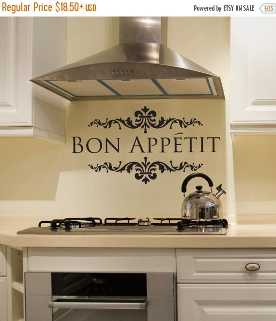 on sale bon appetit kitchen wall vinyl decal interior by