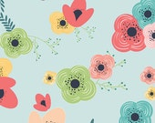 reserved: Happy Home Fabric - Table Flowers Rainbow by Sew Caroline for Art Gallery Fabric AGF Fabric