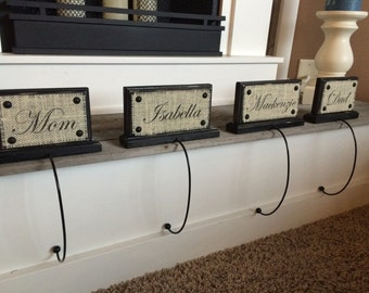 Christmas Stocking Holder Name plaques