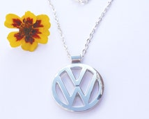 VW Volkswagen Stainless Steel Necklace Pendant Keychain Volkswagon