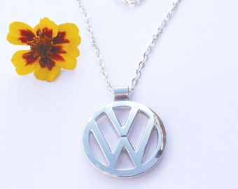 VW Volkswagen Stainless Steel Necklace Pendant Keychain Volkswagon