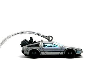 Back to the Future Time Machine DeLorean DMC-12 Car Ornament