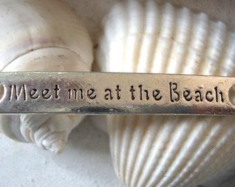 Beach Charms,Beach Bracelet Charms,Beach Bracelet Connector Charm,Meet Me at The Beach,Word Charm,Bracelet Charms,