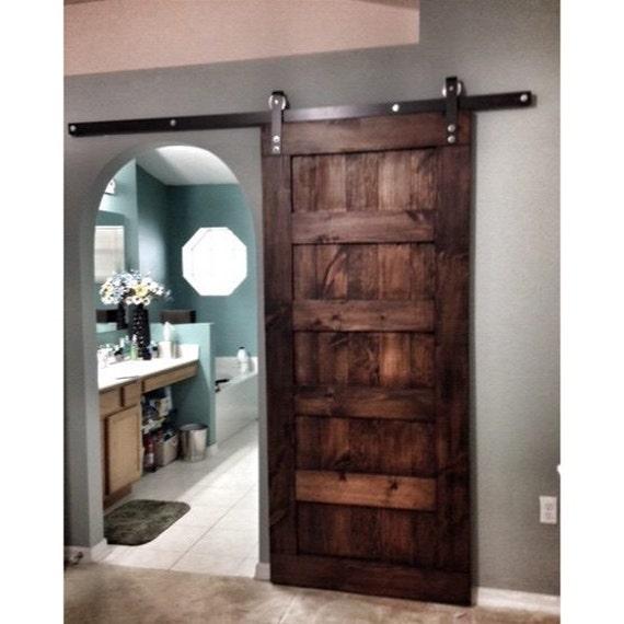 Sliding Barn Door Bathroom Privacy: Custom Made Sliding Barn Door 5 Panel Design Special