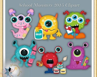 School Monsters Clipart 2015