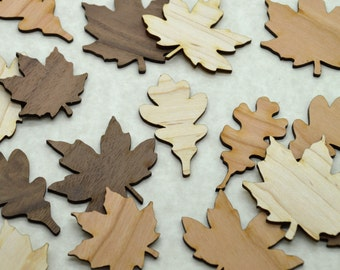 Laser Cut Wooden Leaves