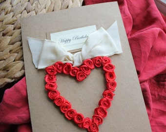 Personalised Handmade Birthday Card Girlfriend Wife 1st First