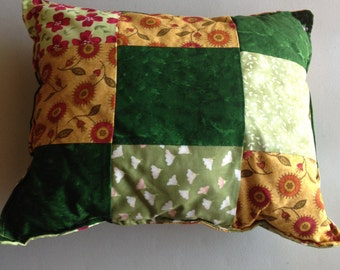 Handmade Multi-Color Patchwork Throw Pillow