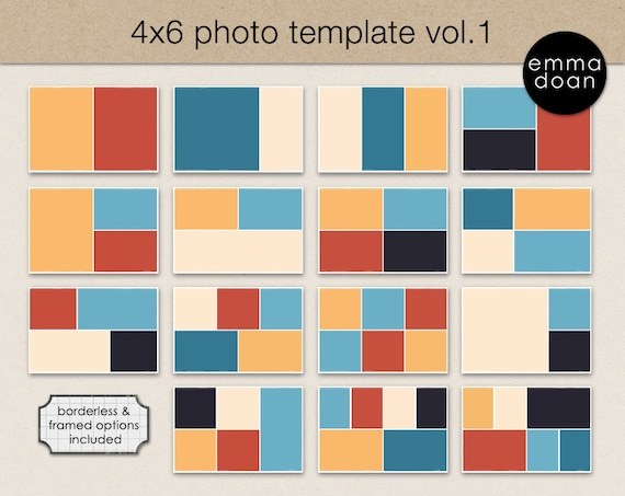 4x6 photo card template 4x6 storyboard template photobook. Black Bedroom Furniture Sets. Home Design Ideas