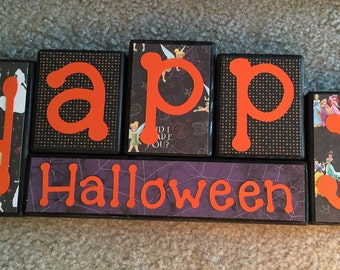 Disney Halloween blocks