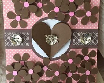 Brown Heart Card