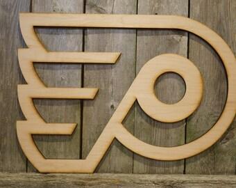 Philadelphia Flyers logo wall hanging sign/gift/cutout/laser/door/decor/unfinished/wood/laser