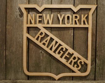 NY New York Rangers logo wall hanging sign