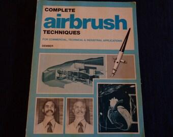 Vintage book Airbrush techniques 1974