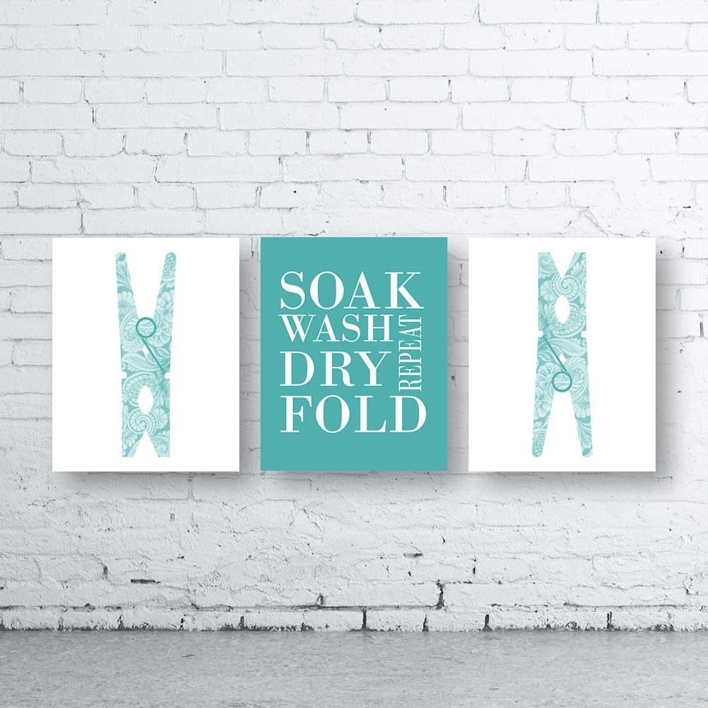 Laundry Wall Art laundry wall art print. set of three 3instant download. peg