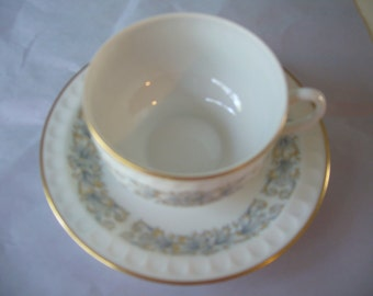 Vintage, VISTA ALEGRE  Porcelain Coffee or Tea Cup and Saucer, Made in Portugal