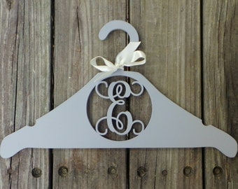 Monogram Hanger - Personalized Wedding Dress Hanger - Monogram Hanger For The Bride - Bridesmaids Gift