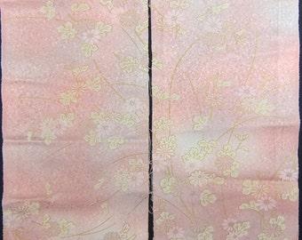 Vintage kimono silk fabric-Chrysanthemum2730I