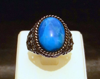 925 Sterling Silver Men's Ring Turquoise Stone With Specially Designed