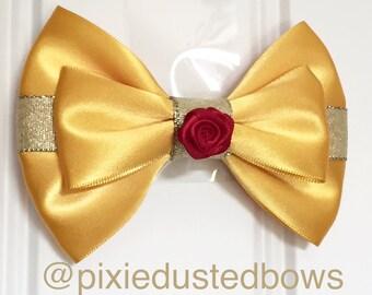 Disney's Belle inspired hair bow