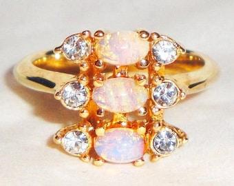 Vintage Avon Opal Ring Etsy