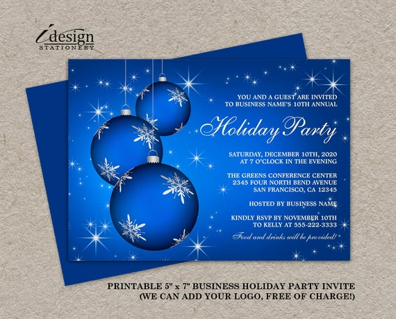 Elegant Christmas Templates: Items Similar To Printable Holiday Party Invitation