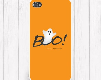 iPhone X, iPhone 8, All iPhone & Samsung Boo! Ghost Happy Halloween Phone Case